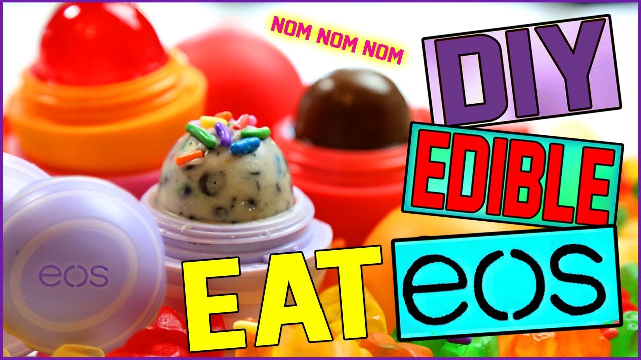 Balm christmas gift turn old eos containers into cool crafts ideas - This Video Was Awesome The Edible Eos From Miss Love Her Videos And Totally Suggest Looking Her And Her Eos Videos