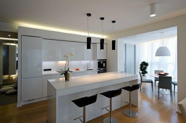 cocina moderna con luces led integradas
