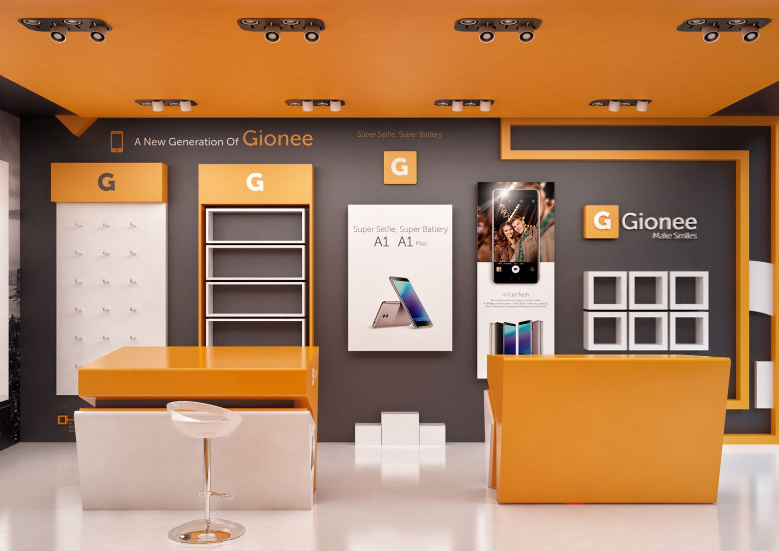 mobile store design on behance | store design interior
