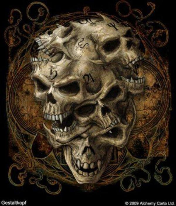 Gothic skulls pictures google search skulls galore for Gothic painting ideas