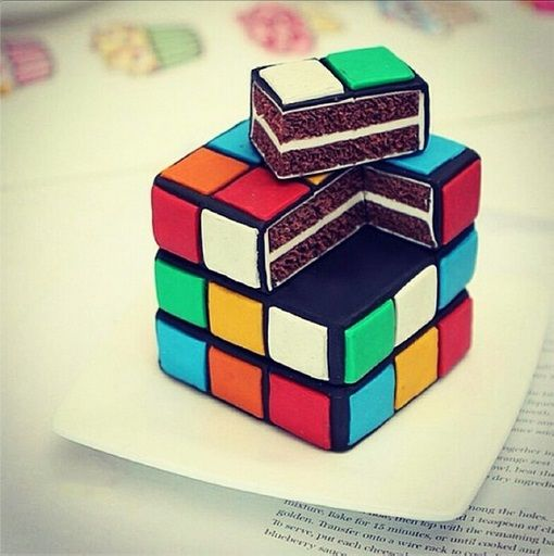 rubik's cube awesome cake 3d