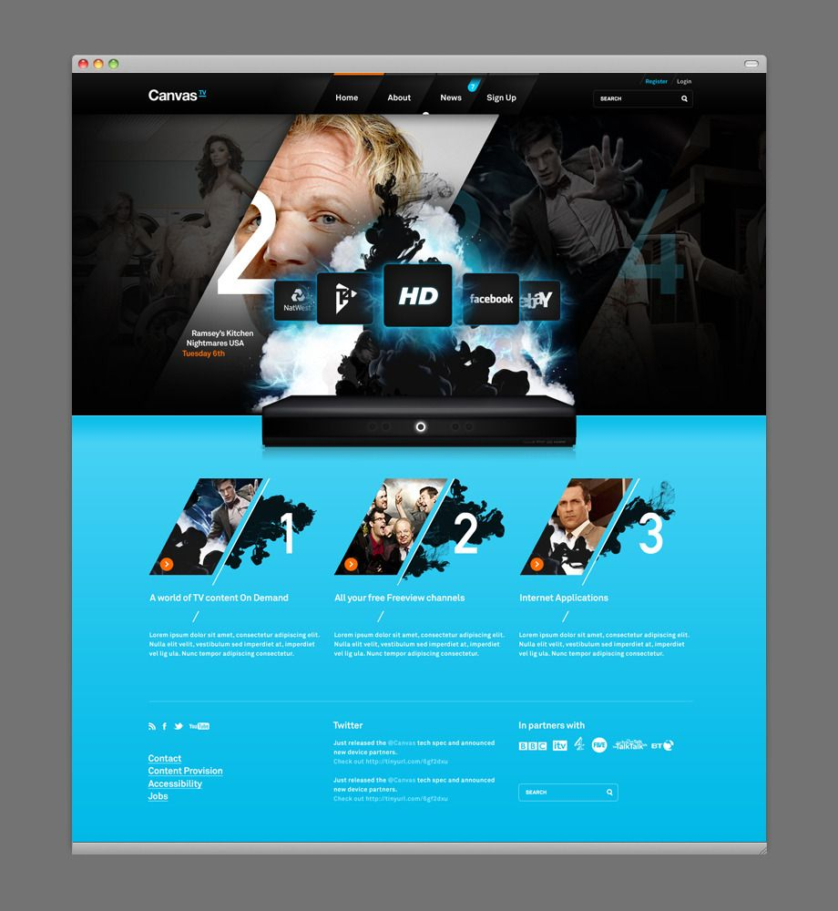 Canvas Web Development Design Web Design Inspiration News Web Design