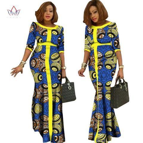 2017 Afrikaanse Kleding Voor Vrouwen Vintage Maxi Dress Dashiki