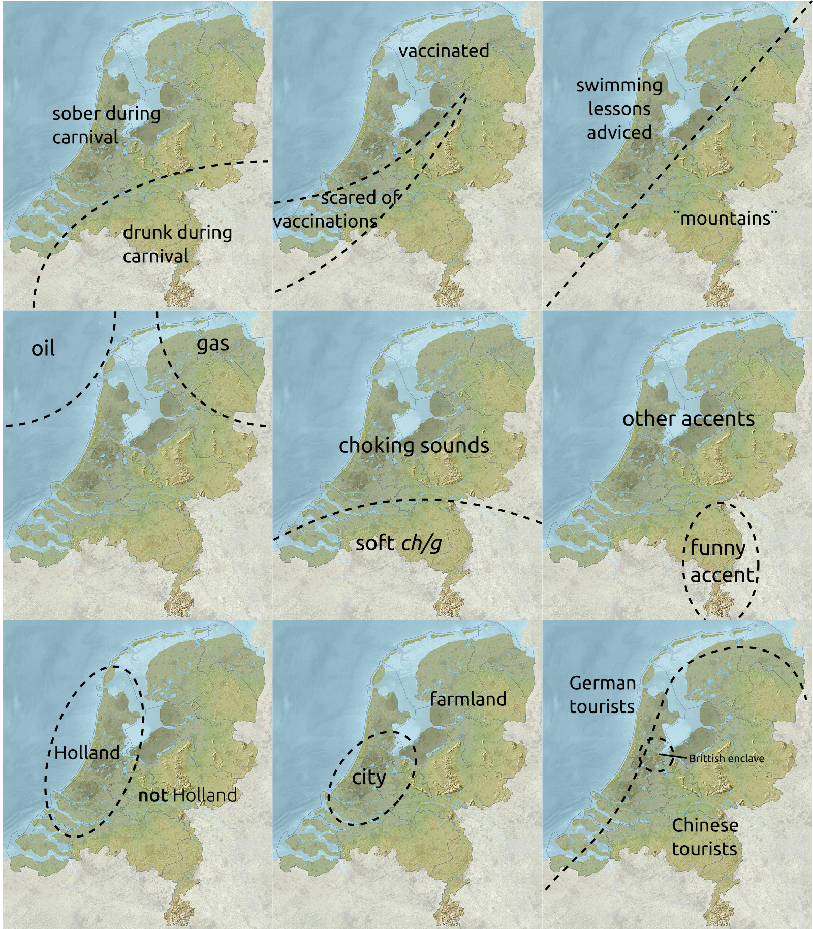 Nine ways to divide the Netherlands EUROPE