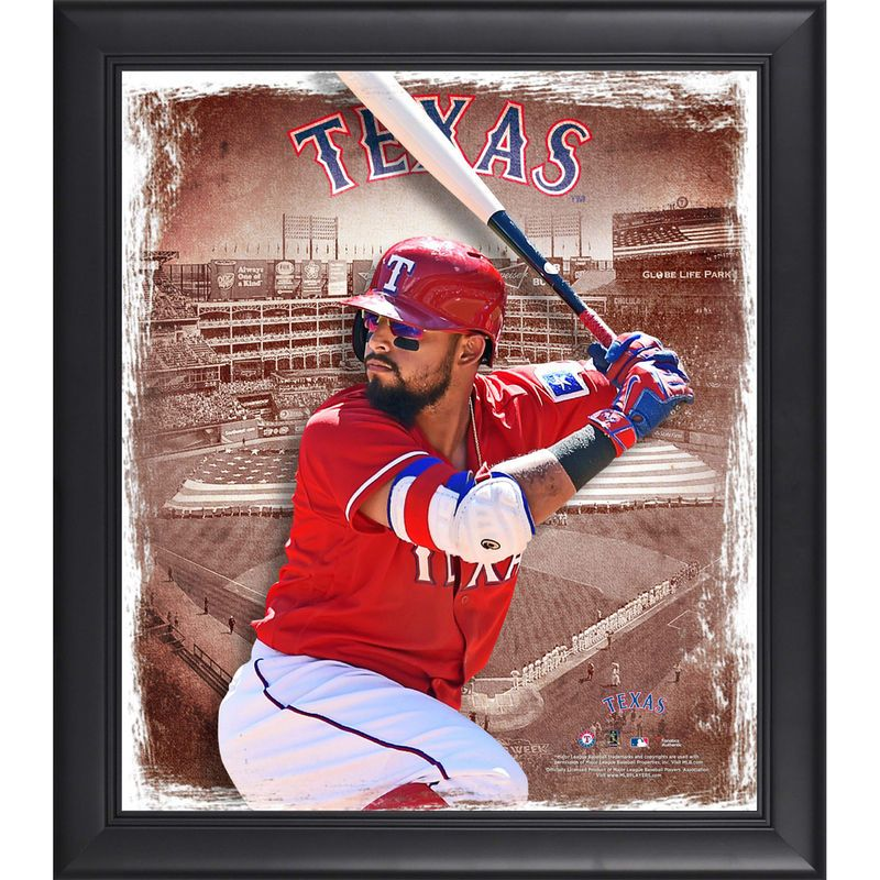 Rougned Odor Texas Rangers Fanatics Authentic Framed 15 X 17 Playmakers Collage Rougned Odor Odor Texas Rangers Odor Rangers