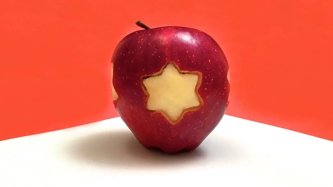 How to carve stars in an apple food art party idea cooking tips