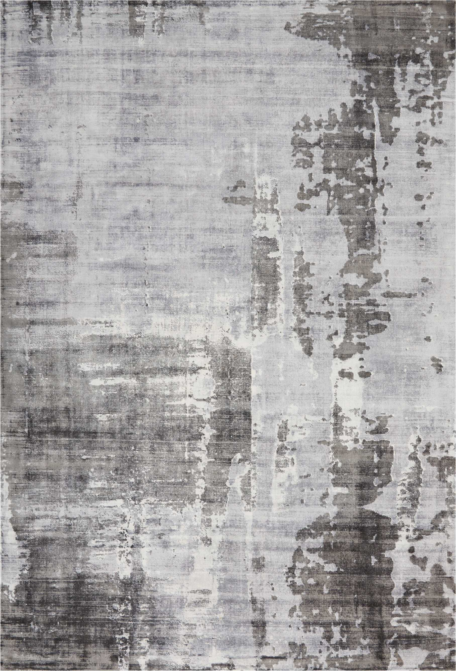 Ki373 Safari Dreams Grey Sophisticated Shades Of Grey Play Out Over An Abrash Field Of Pale Grey And Ivory In This S Rugs On Carpet Abstract Modern Rugs Grey