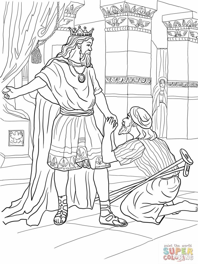 David And Jonathan Coloring Page David And Jonathan Coloring Page