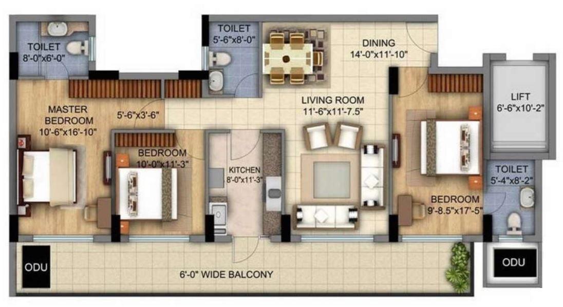 Planos para apartamento de 6 metros de ancho por 12 de for Casa minimalista 80 metros