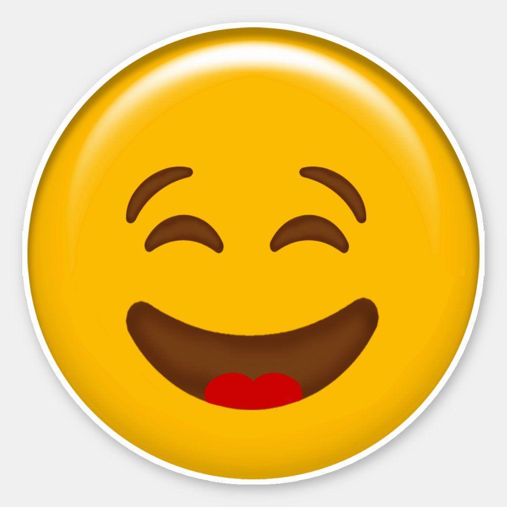 Cutie Emoji Laughing Face Vinyl Sticker Zazzle Com In 2020 Laughing Face Laughing Emoji Funny Emoji Faces