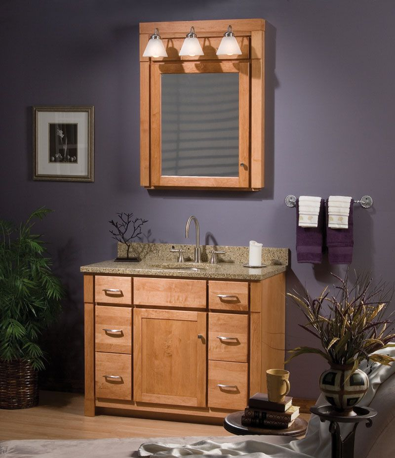 """Bathroom Vanity Ensembles woodpro cabinetry: monterey collection. 42"""" vanity ensemble with"""