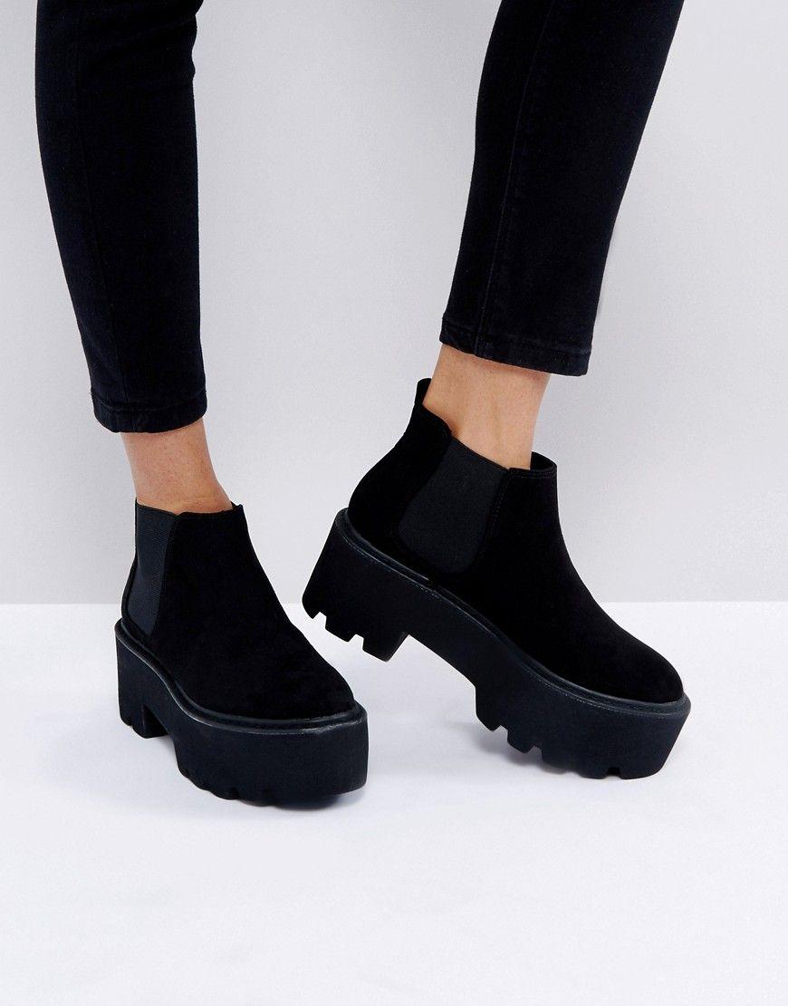 Pull\u0026Bear - Ankle-Boot mit Plateausohle
