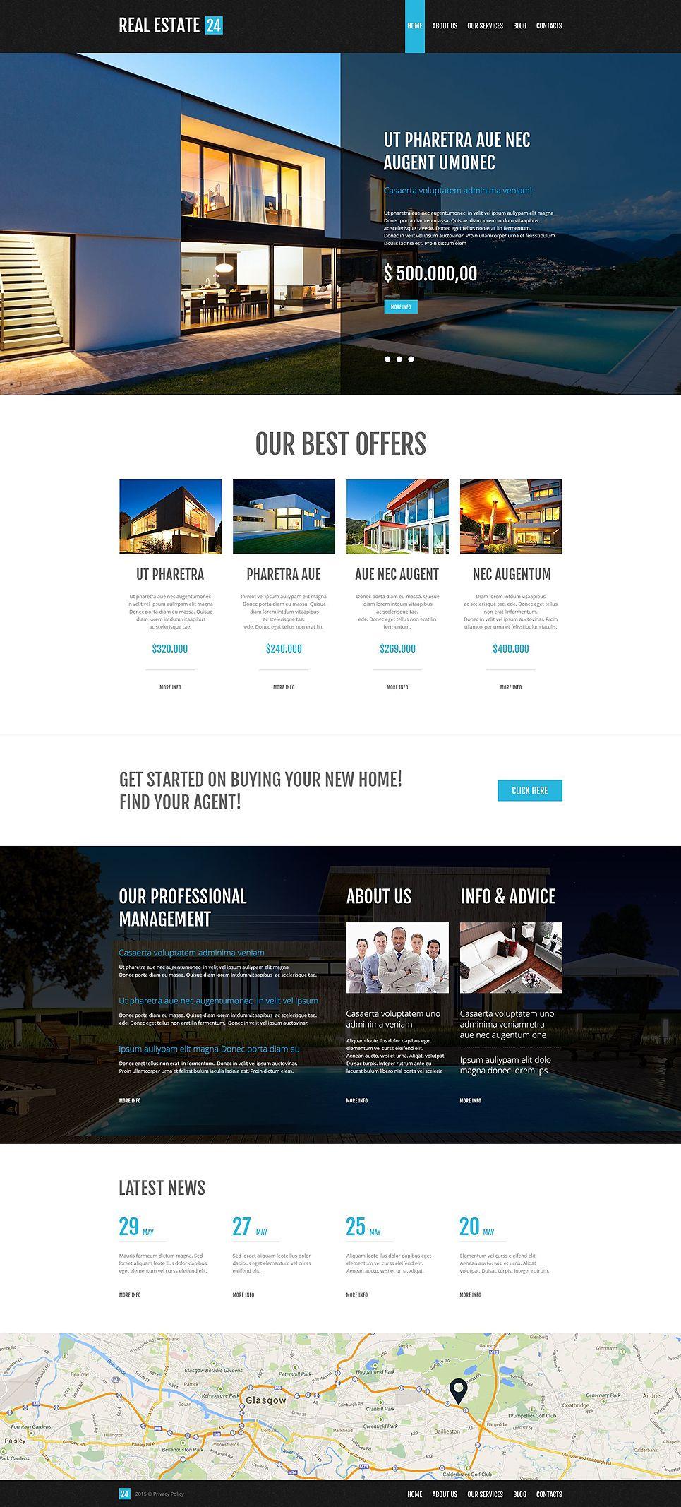 Realtor Company Wordpress Theme Real Estate Website Design Real Estate Web Design Real Estate