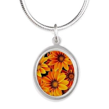 Orange Garden Flowers Necklaces