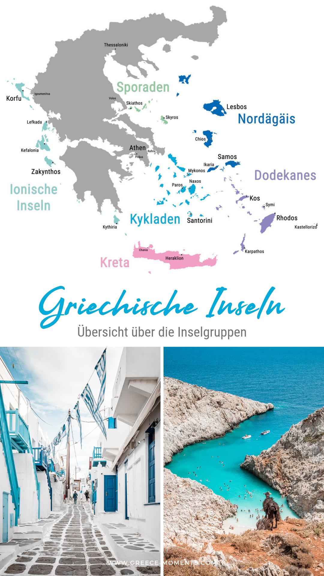 Karte Griechenland Mykonos.Griechische Inseln übersicht Die Schönsten Inselgruppen Mit Karte
