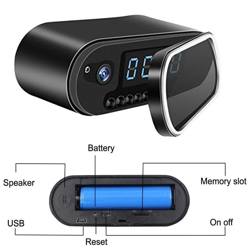 Wifi Hidden Cameras In Clock Mini HD 1080P Spy Camera