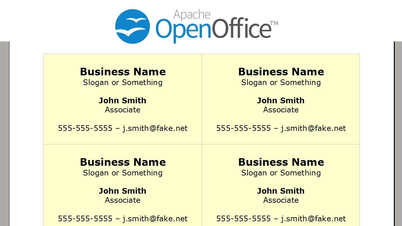 Open Office Business Card Templates Dalep Midnightpig Co Pertaining To Open Office Index Card Temp In 2020 Printing Business Cards Card Template Avery Business Cards