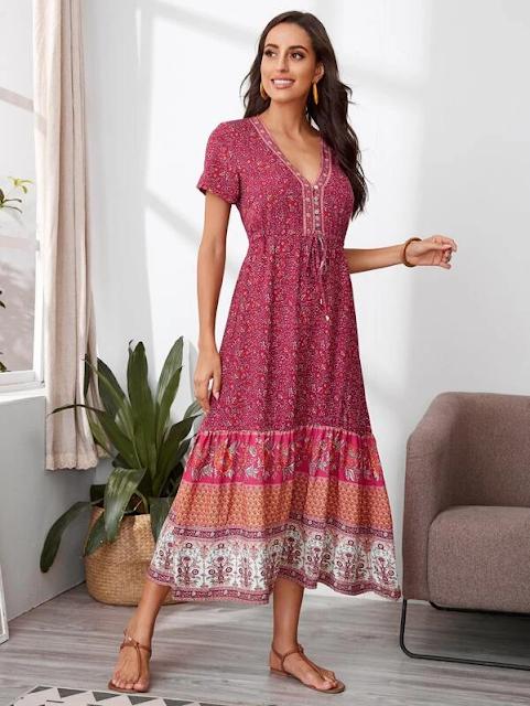 فساتين صيفية للبيع على الأنترنيت في المغرب الأداء عند الإستيلام تخفيضات على مواقع البيع على الأنترنيت في المغرب Dresses A Line Dress Boho Floral Dress