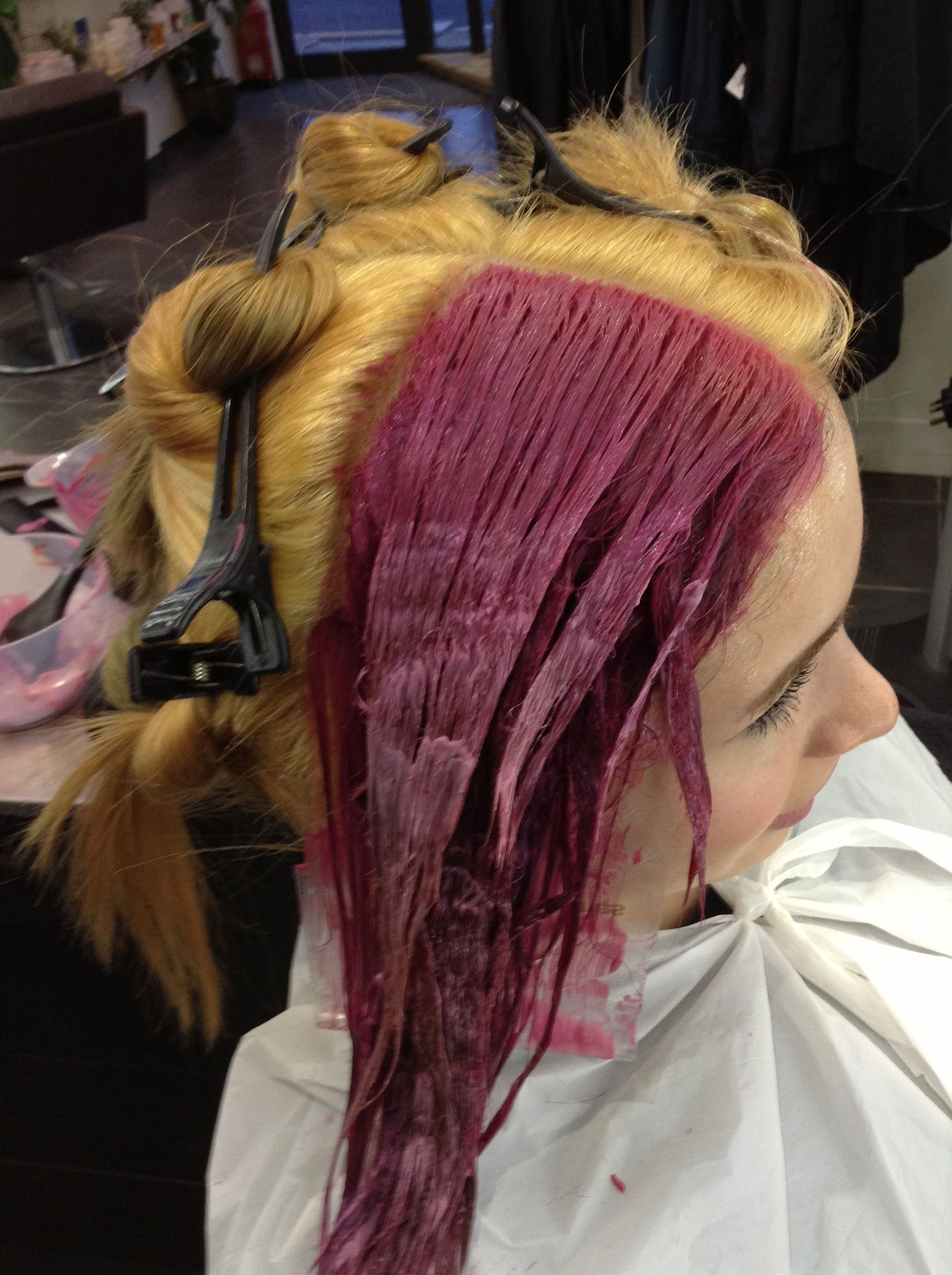 Step 2 Apply the Violet pure tone ensuring total