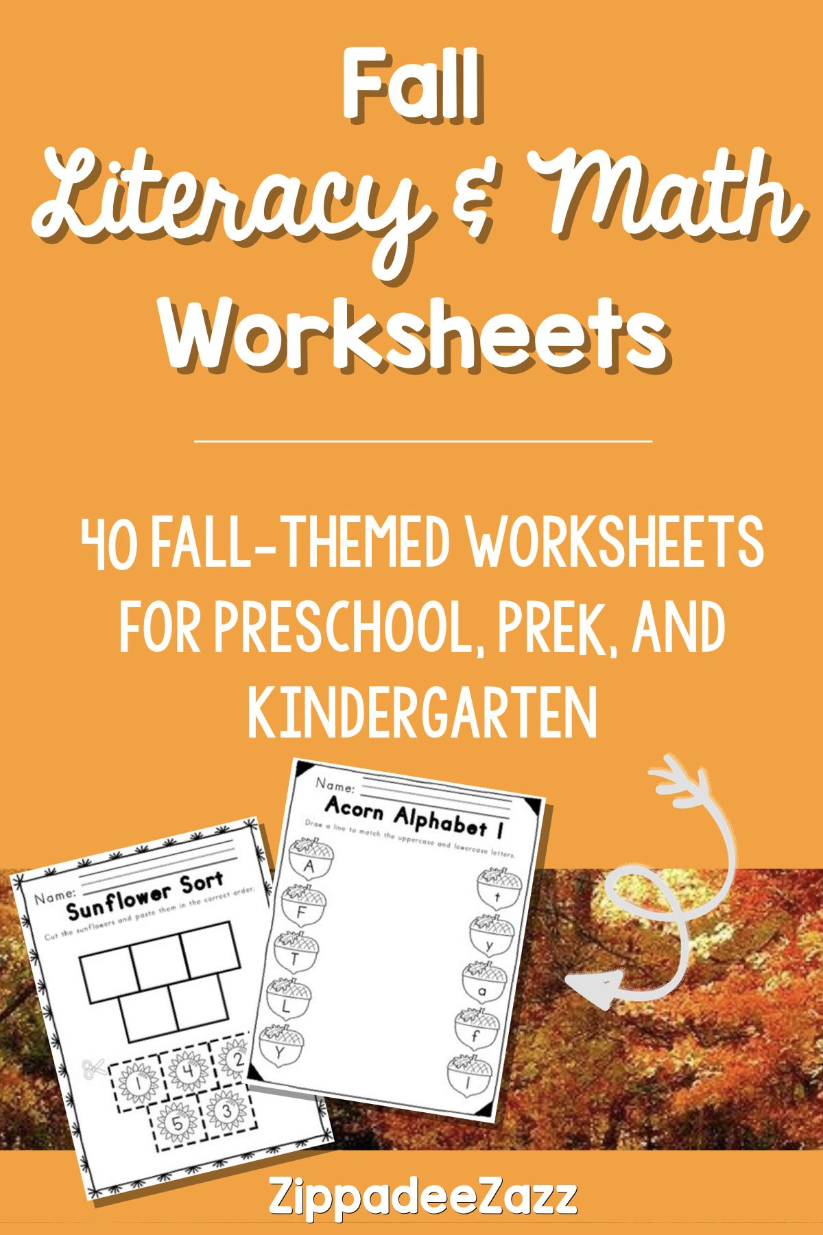 Worksheets For Fall Ela Literacy And Math By