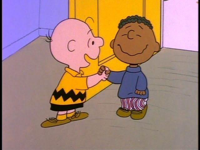 Charlie Brown Jive handshake with Franklin, the cool kid ...