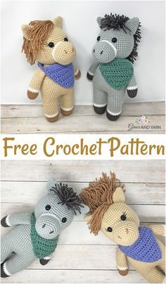Free Crochet Horse Patterns – Amigurumi Patterns #horsepattern