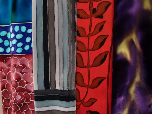 handpainted silk velvet