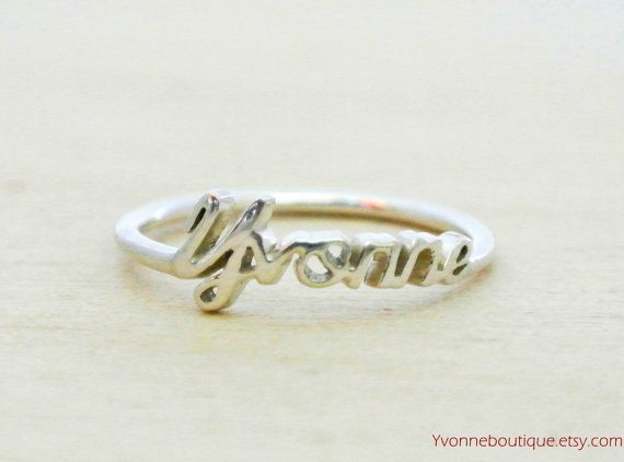 Name Ring Personalized Sterling Silver Name by YvonneBoutique ...