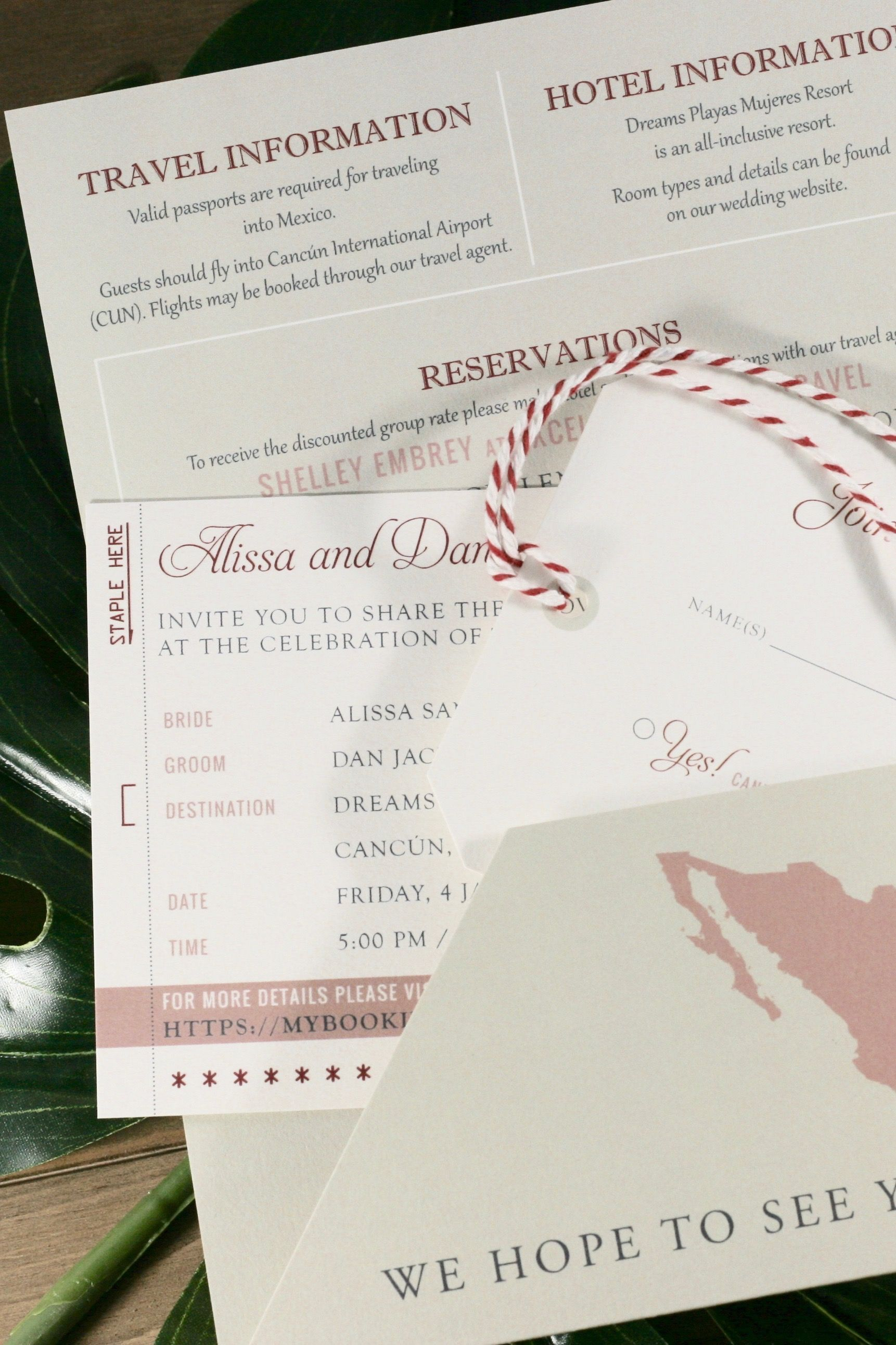 Boarding Pass Invitation Suite | Invitations + Stationery ...