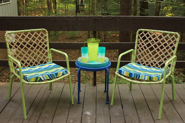 The Handcrafted Life* Spray Paint Patio Furniture Makeover - i need