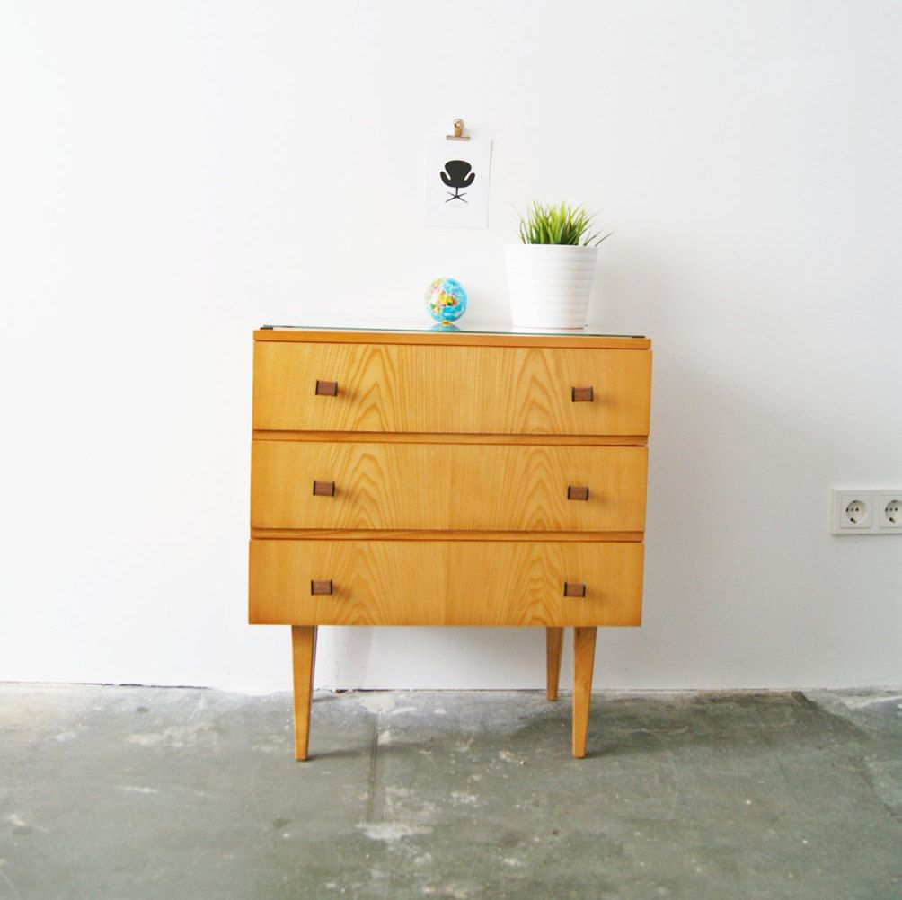 Sideboard Glasplatte 50 S Night Table Chest Of Drawers Sideboard Mid Century