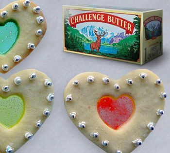 Harris Teeter - Valentine's Day - Heart of Glass Challenge Butter Cookies - Bake cookies with the kids what a great idea!