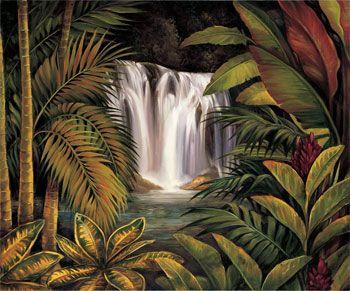 tropical landscapes art - Google Search