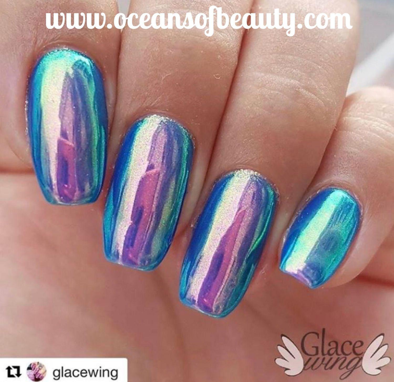 Unicorn Chrome Powder from OceansofBeauty.com Salon Quality done ...
