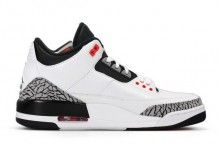 detailed look ab015 e8638 Air Jordan 3 Retro White Black-Wolf Grey-Infrared 23