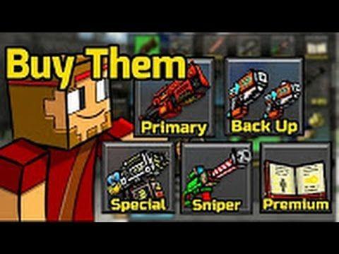 pixel gun 3d buying all guns