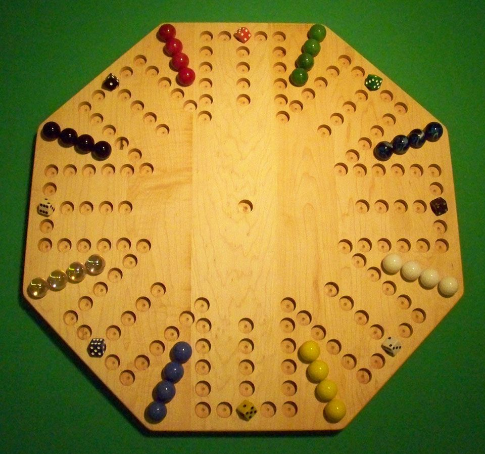 Wooden Marble Game Board Aggravation Br 22 Octagon Hard Maple