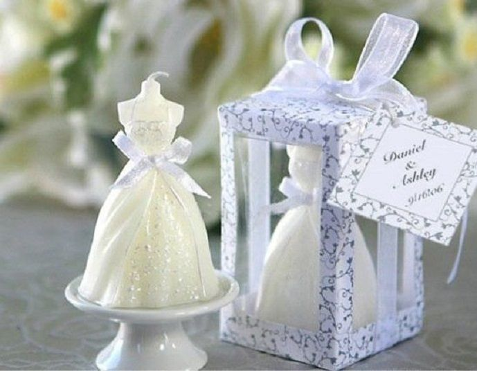 New Fashion Elegant Wedding Dress Candle Gifts