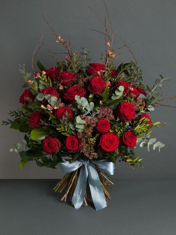 Wild At Heart Valentine S Day 2016 Red Naomi Dozen Roses Bouquet