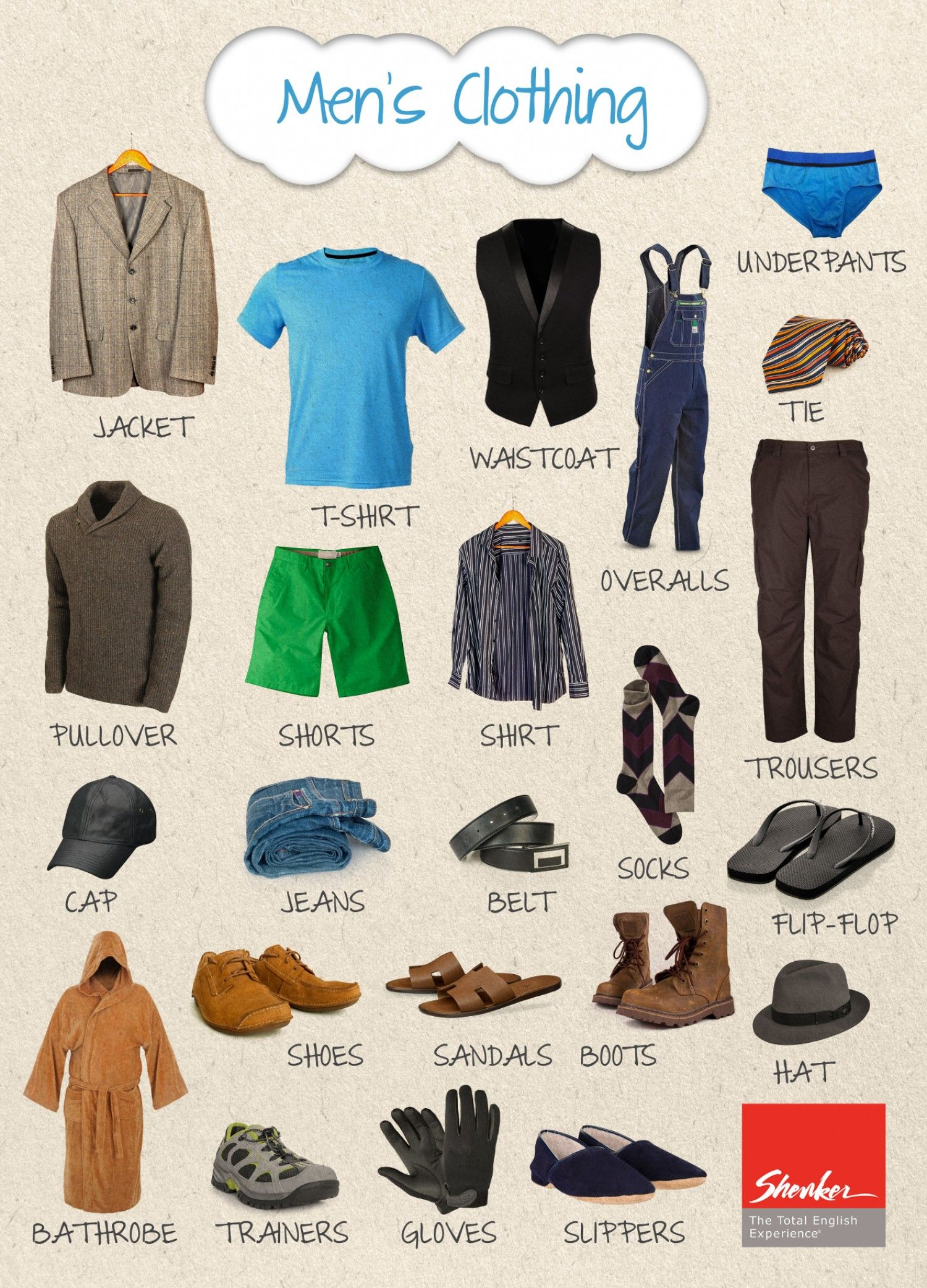 Clothing sizes - English to French Translation