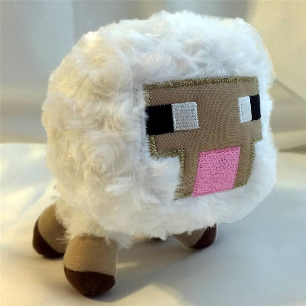 "New! MINECRAFT Overworld Animal BABY SHEEP 6"" Stuffed ..."