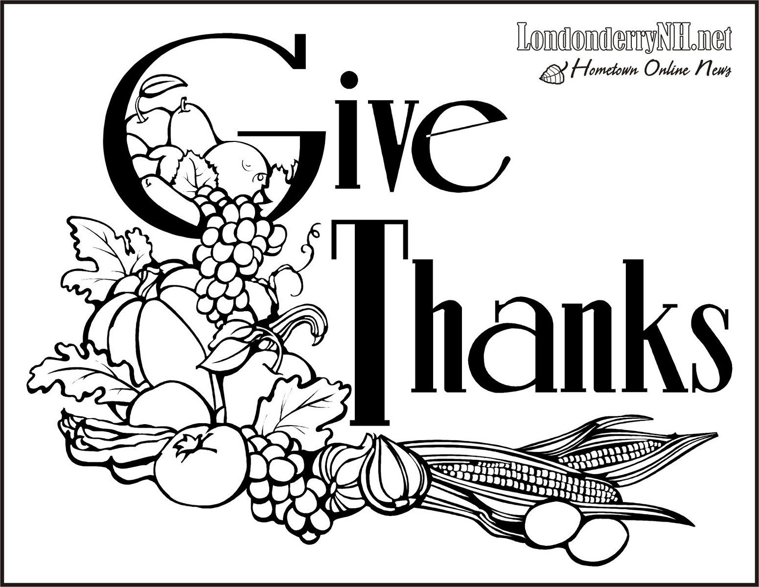 Thanksgiving Pictures To Print And Color, Thanksgiving