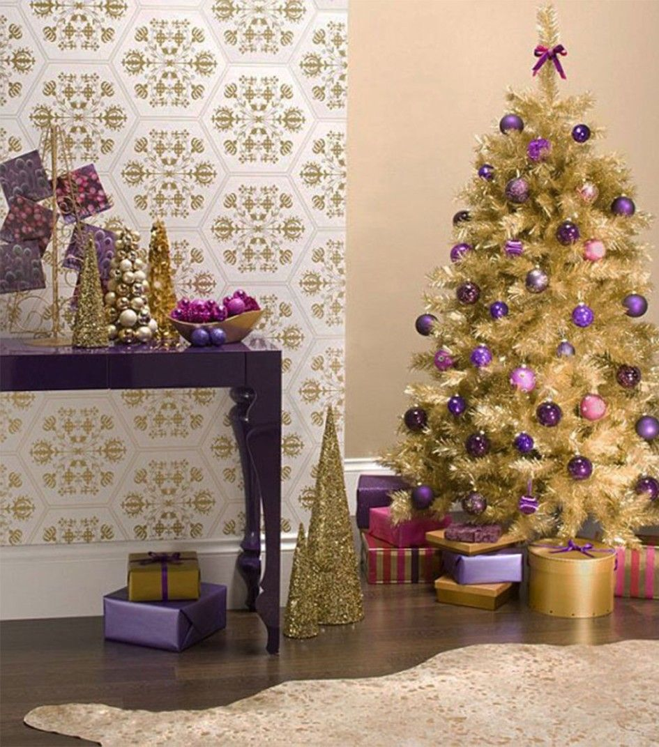 decoration purple balls with small bow atop and nice christmas tree decoration feat bottom gifts also artificial trees christmas tree decor ideas with