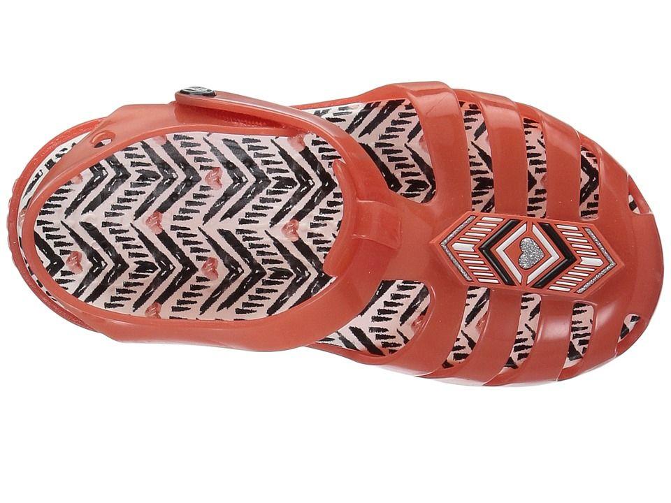 f42a24b183c4 Crocs Kids Drew X Isabella Sandal (Toddler Little Kid) Girl s Shoes Tomato  White