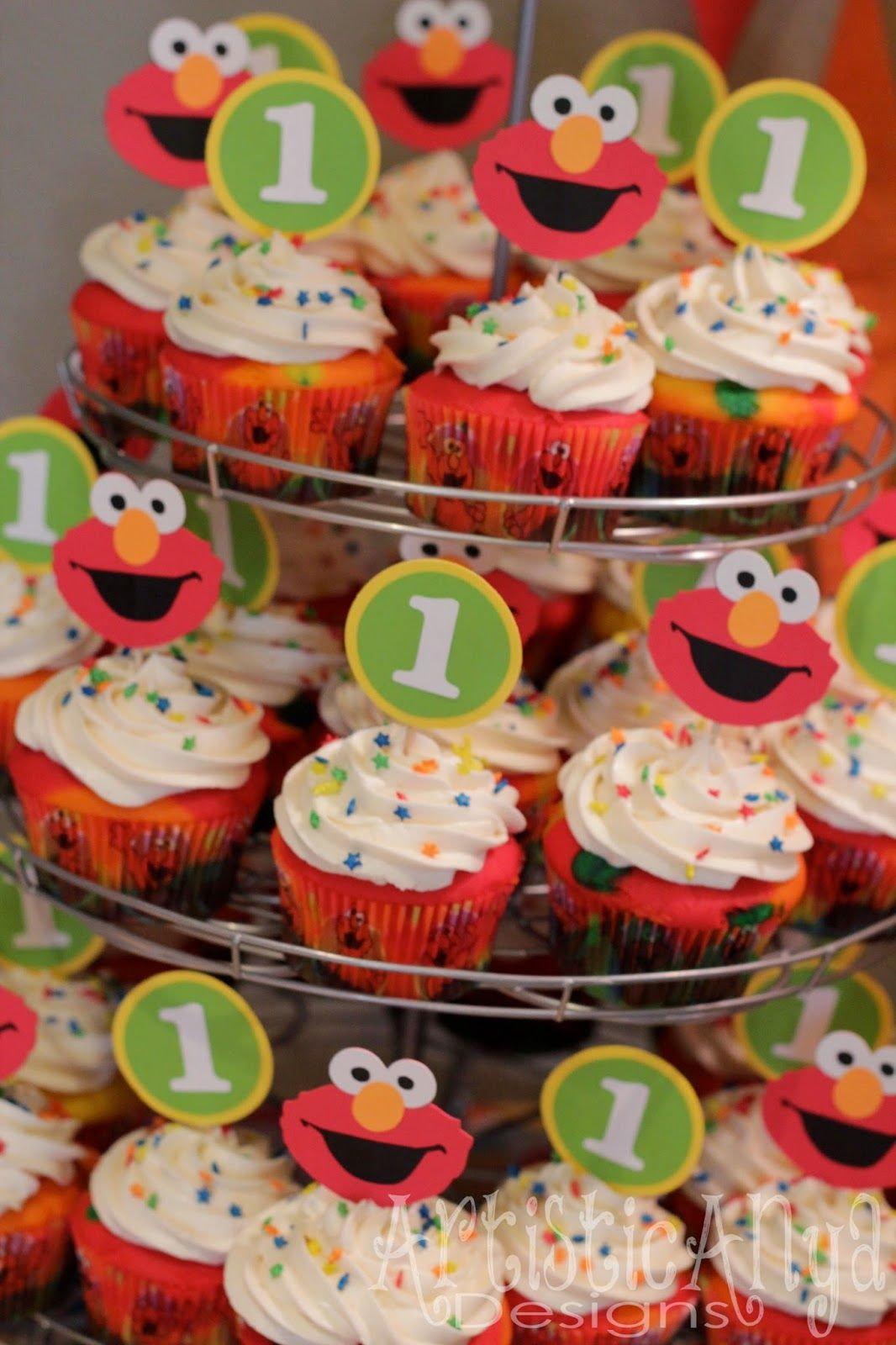 Elmo And Friends Sesame Street 1st Birthday Party