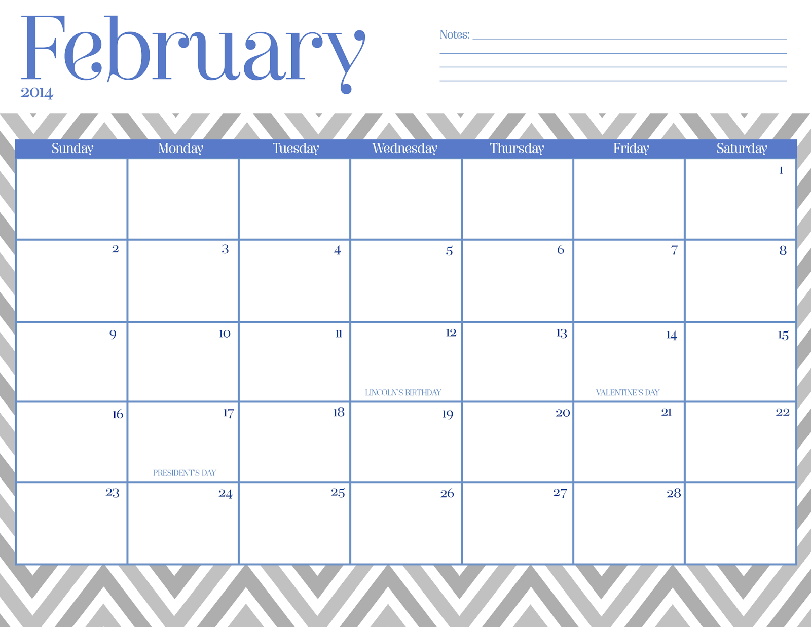 Download Free Calendar February 2015 Printable Template Excel Word