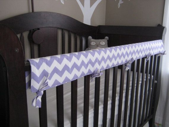 Crib Teething Rail Padded Front Cover with by myfrecklesshop, $38.00.     I think This would be great for Baby Girl