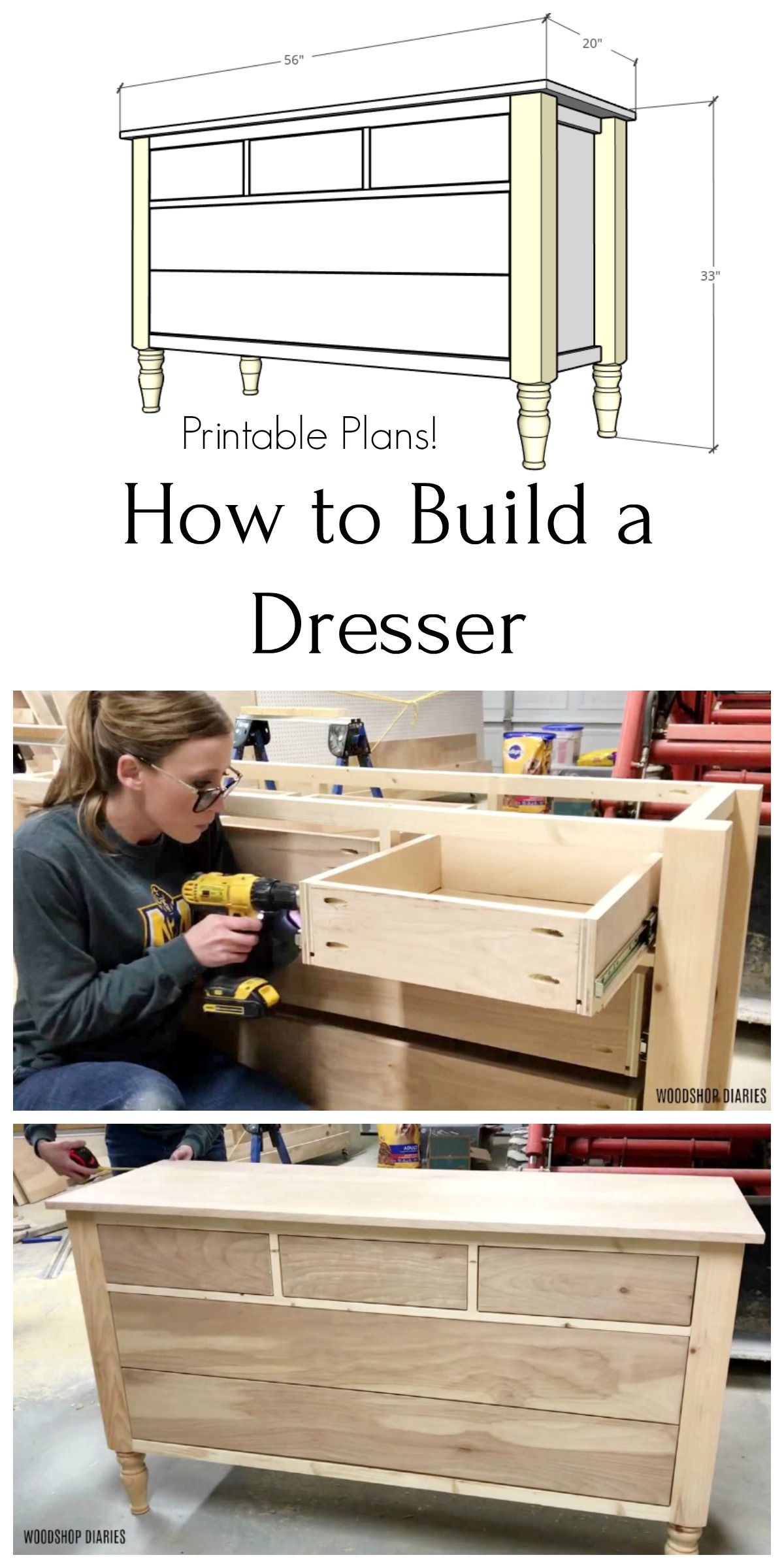 Build Your Own Diy Dresser Video And Step By Step Tutorial In 2020 Diy Dresser Build Woodworking Furniture Plans Woodworking Building Plans