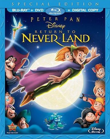 Peter Pan Return To Neverland Special Edition Blu Ray Dvd