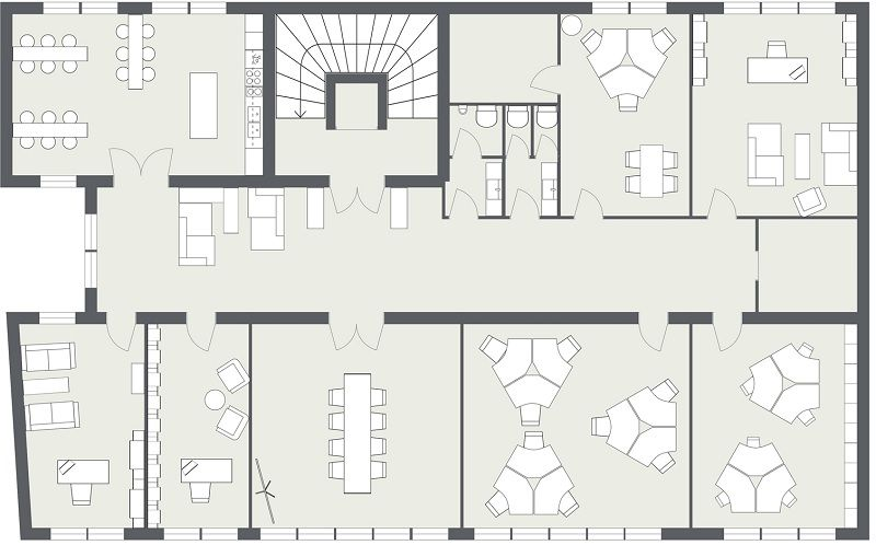 Office Design Floor Plan Made Online With RoomSketcher Home Designer